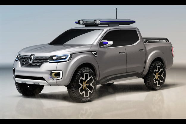 Renault изненадва публиката с новия пикап Alaskan