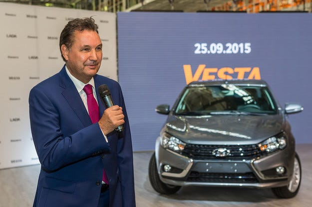 Бо Андерсон даде старта на производството на Lada Vesta