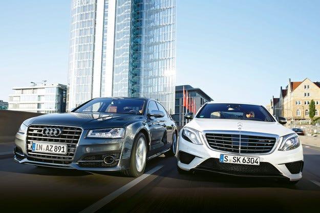 Audi S8 срещу Mercedes AMG S 63 4Matic