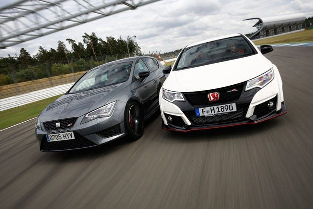 Honda Civic Type R срещу Seat Leon Cupra 280
