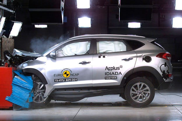 Hyundai Tucson получи 5 звезди от тестовете на Euro NCAP