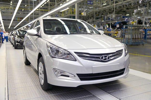 Hyundai Motor произведе милион коли в завода си в Русия