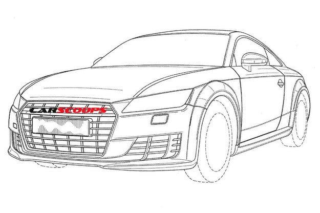 Разкриха дизайна на новия TT RS чрез патентни скици