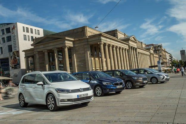BMW Серия 2 GT, Ford Grand C-Max, Opel Zafira Tourer, VW Touran