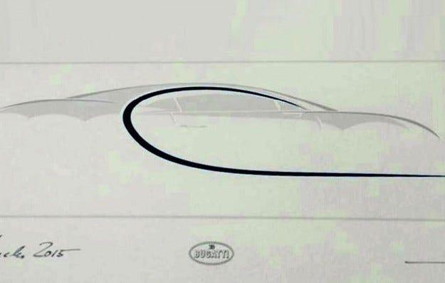 Bugatti публикува първото изображение на Chiron