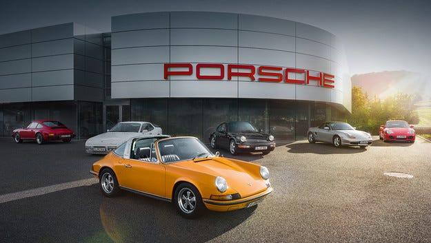 Компанията Porsche откри шоурум за ретро автомобили