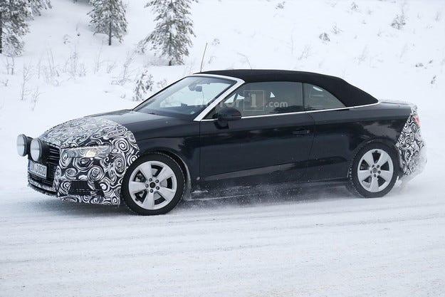 Audi започна пътни тестове на обновения кабриолет A3