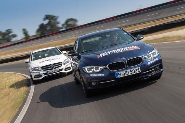 BMW 340i срещу Mercedes C 400