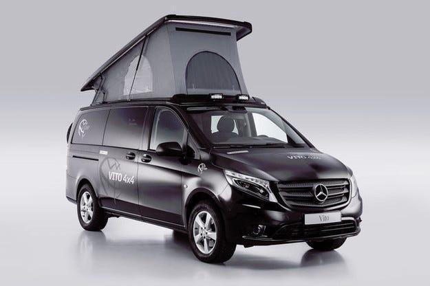 Кемперът Mercedes Vito 4x4 Tecamp готов за всеки ден