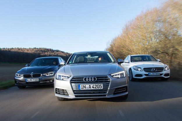 Audi A4 vs. BMW 318i vs. Mercedes C 180