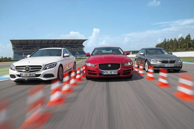 BMW 320d, Jaguar XE 20d, Mercedes C 250 d