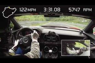 2017 Camaro ZL1 тест на Нюрбургринг