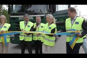 Електричиски път за камиони в Швеция