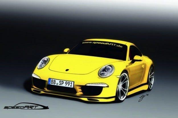 speedART Porsche 911: Теле пред майка си