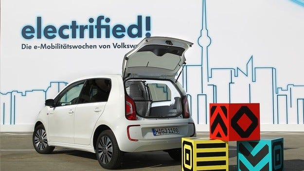 VW E-Load Up е студия на най-малкия електрически товарен автомобил