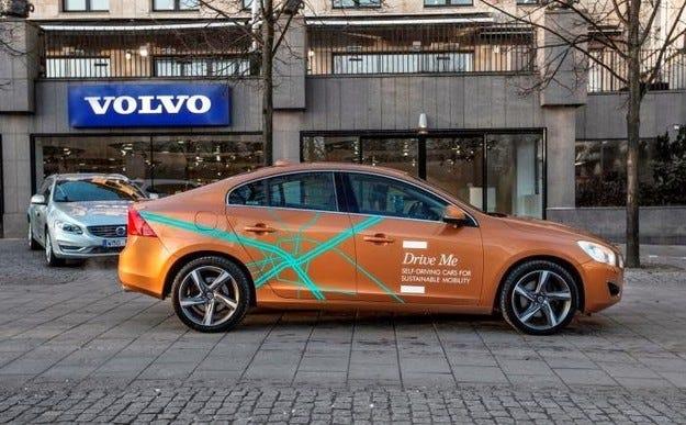 Volvo започна тестове на автомобили с автопилот