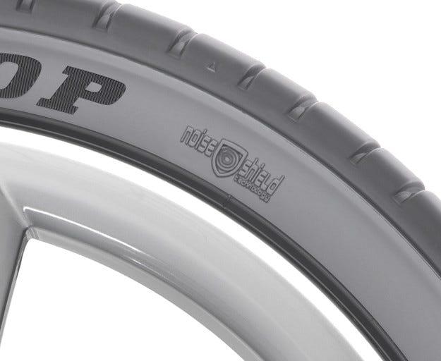 Открийте рева на двигателя с Noise Shield технологията на Dunlop