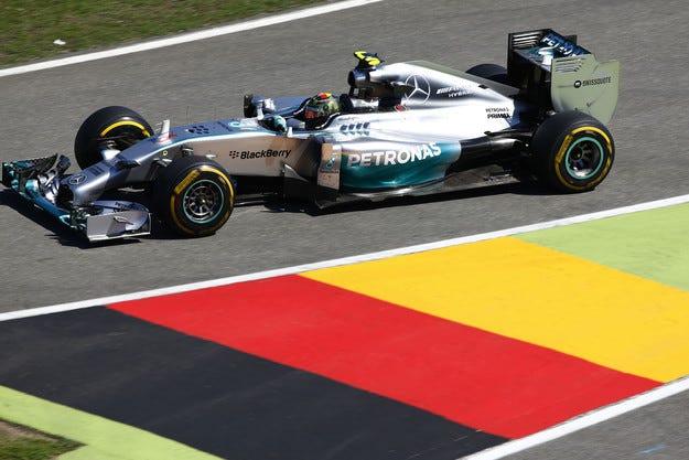 Гран при на Германия: Розберг спечели квалификацията на Хокенхайм