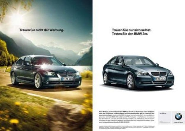 BMW с необичайна рекламна стратегия