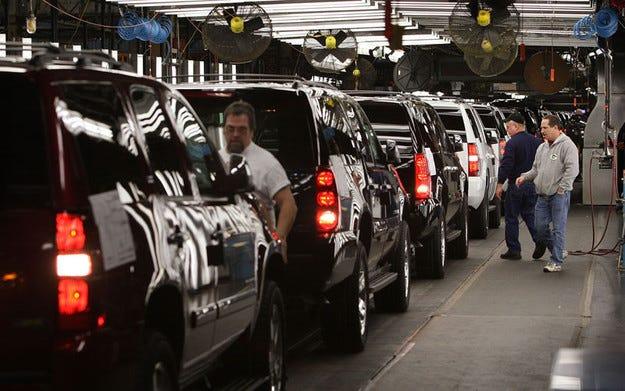 Автомобили на  General Motors с датчици за разсеяни