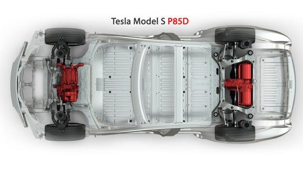 Tesla представи Model S с двойно предаване