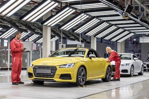Започна производството на Audi TT Roadster