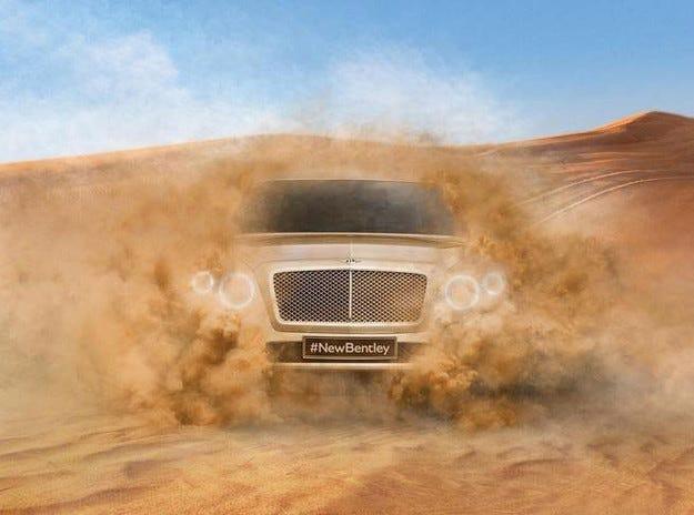 Bentley пусна тийзър на първия си кросоувър