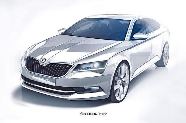 Skoda показа ескиз на новото поколение Superb