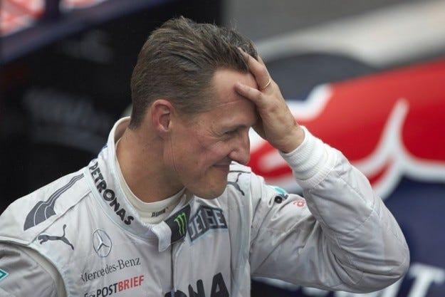 Година след инцидента Шумахер все още не е контактен