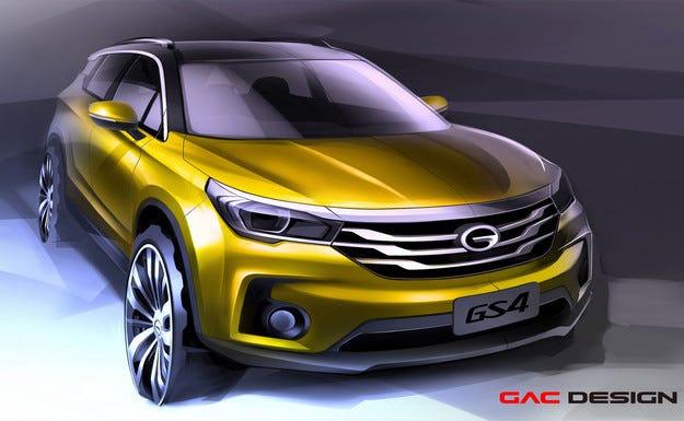 В Детройт ще дебютира китайският кросоувър GAC GS4