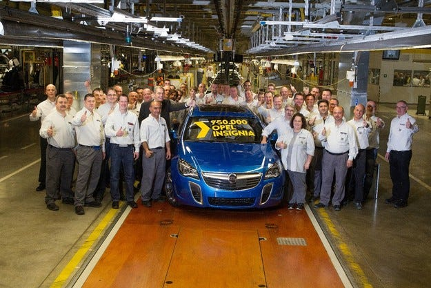 750 000-ният Opel Insignia: Юбилей за успешния флагман