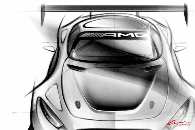 Mercedes показа тийзър на наследника на SLS AMG GT3
