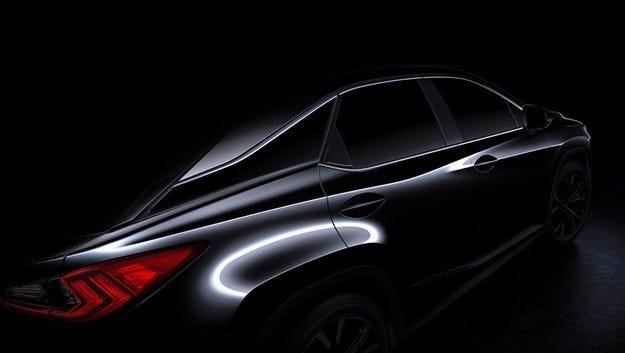 Публикуваха първото изображение на новия Lexus RX