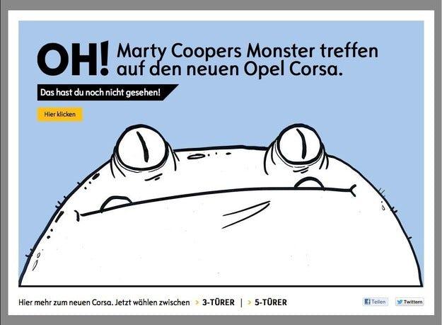 Карикатуристът Мартин Купър се захвана с Opel Corsa
