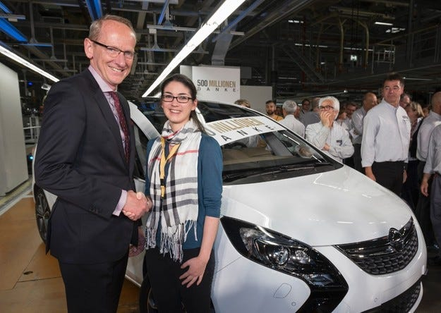 """Opel и GM казват """"Благодарим ви"""" 500 милиона пъти"""