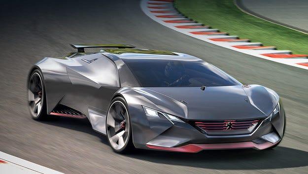 Виртуалният суперавтомобил Peugeot с 875 конски сили