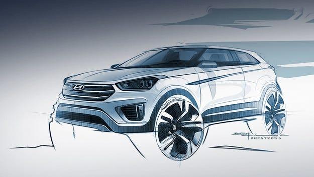 Hyundai пусна първия ескиз на кросоувъра Creta