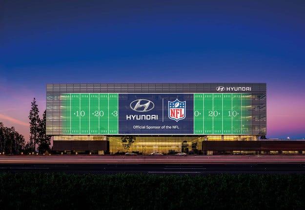 Южнокорейската компания Hyundai спонсорира лигата NFL