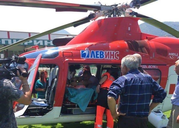 Хеликоптер спаси пострадал при трудова злополука