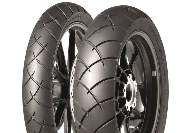 Гумите Dunlop Trailsmart със злато и сребро от сп. Motorrad