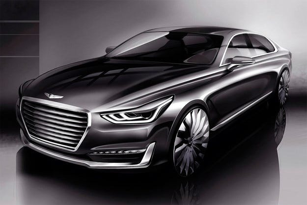 Разсекретиха дизайна на флагманския седан Genesis G90