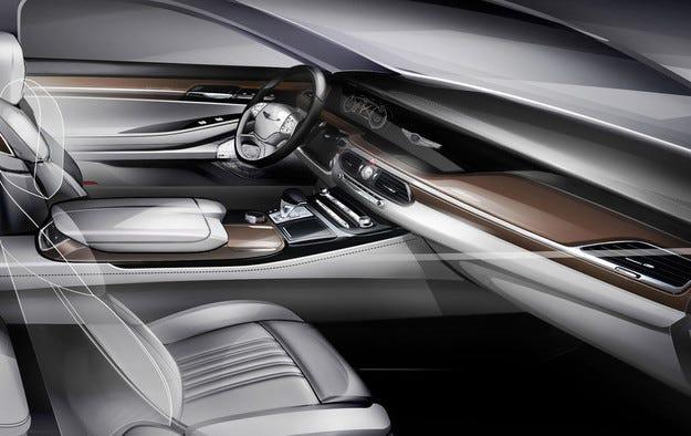 Hyundai показа салона на флагмански седан G90