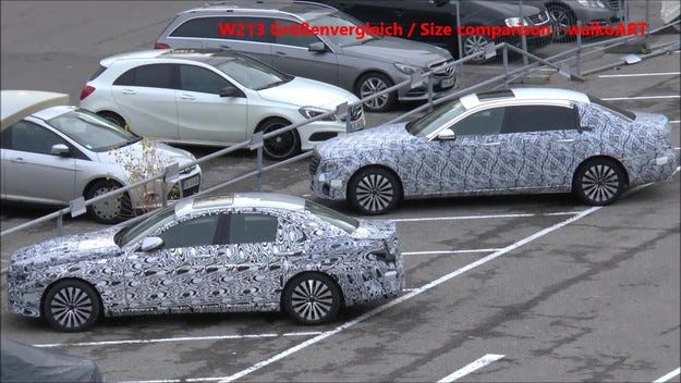 Издебнаха дългата версия на Mercedes E-класа на тестове