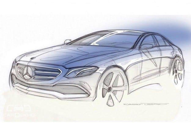 Mercedes показа дизайнeрска скица на новата E-класа (видео)