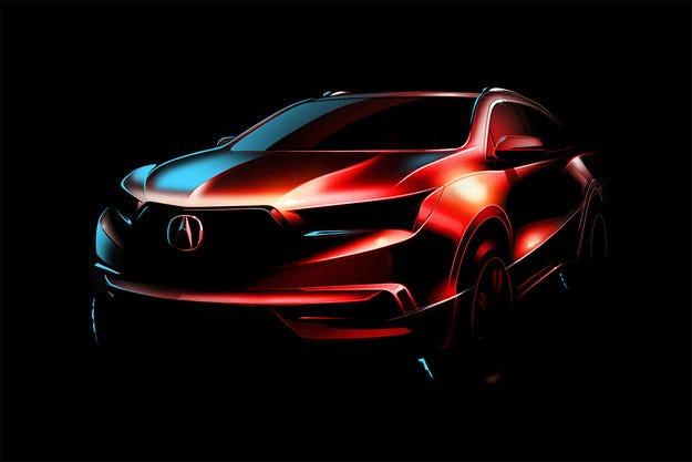 Acura пусна първото изображение на новия кросоувър MDX