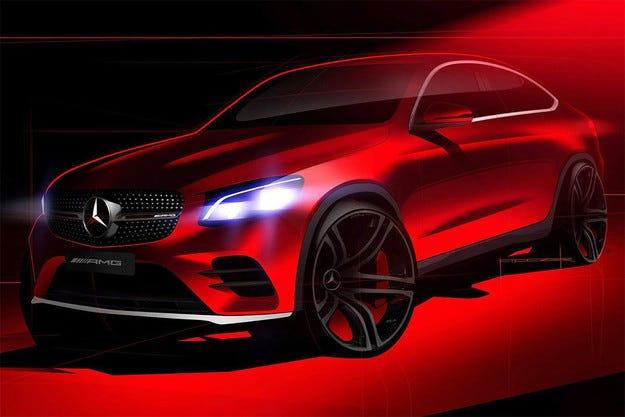 Mercedes пусна първото изображение на GLC Coupe