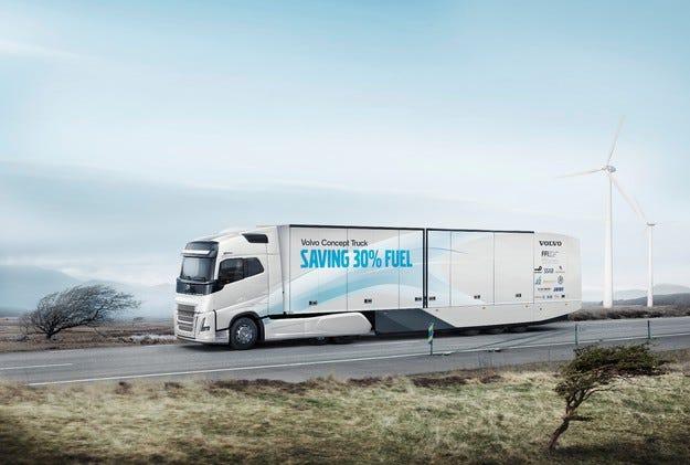 Нов камион на Volvo намалява разхода на гориво с над 30%