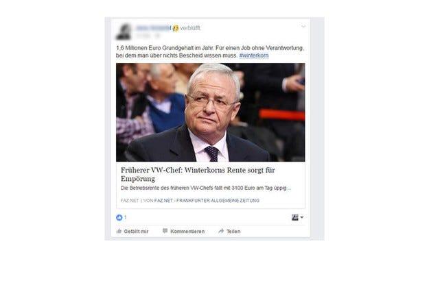 Договорът на Мартин Винтеркорн с VW е прекратен