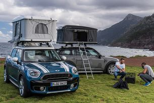 MINI оборудва кросоувъра Countryman с палатка