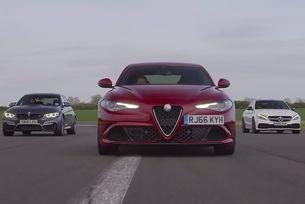 Сравняват Alfa Romeo Giulia, BMW M3 и Mercedes C63 S